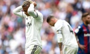 Real Madrid thiết lập kỷ lục buồn sau trận thua trước Levante