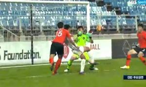Mạnh Dũng quá đẳng cấp 'xé lưới' U19 Hàn Quốc