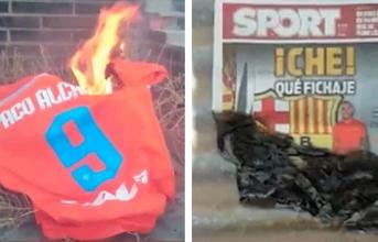 CĐV giận dữ, đốt áo tân binh Barca