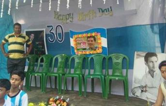 Tại Ấn Độ, Messi cũng có tiệc mừng sinh nhật