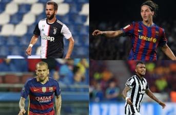 Từ Ibrahimovic đến Dani Alves: 11 cầu thủ từng khoác áo Barca và Juve