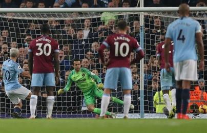 Man City ghi 1 bàn trước West Ham sau tổng cộng 20 cút sút