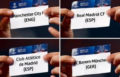 Lịch thi đấu và kết quả vòng bán kết Champions League mùa giải 2015/2016