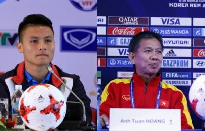 HLV Hoàng Anh Tuấn không tiếc lời khen trò cũ Quang Hải