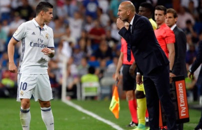 "Zinedine Zidane: ""Tôi không hề muốn James Rodriguez đến Bayern Munich"""