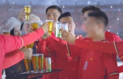 Phản cảm sao trẻ quảng cáo bia
