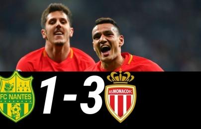 Highlights: Nantes 1-3 Monaco (Vòng 1 giải VĐQG Pháp)