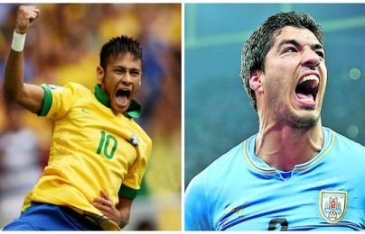 """03h00 ngày 17/11, Brazil vs Uruguay: Nội chiến """"siêu anh hùng"""""""
