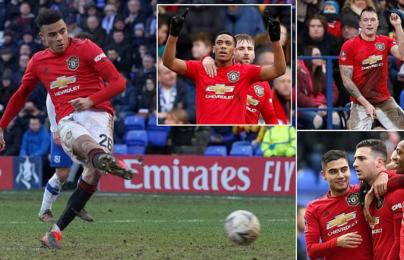"""6 phút ghi 3 bàn; Man United thắng """"hủy diệt"""" Tranmere"""