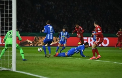 Cận cảnh Bayern giành chiến thắng kịch tính trước Hertha Berlin