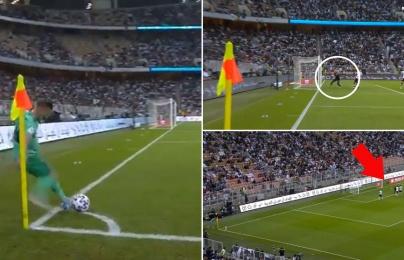 Làm điều không tưởng, Kroos biến thủ môn Valencia thành nạn nhân của siêu phẩm
