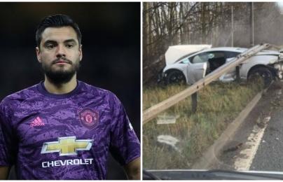 """Sao Man Utd gặp tai nạn, """"nát bét"""" siêu xe Lamborghini bạc tỷ"""