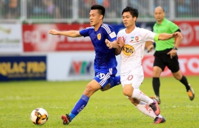 Xem lại màn rượt đuổi tỉ số mãn nhãn Quảng Nam FC vs HAGL trên sân Tam Kỳ