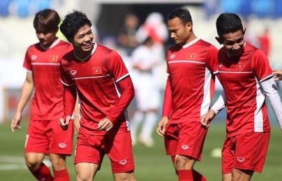 Trực tiếp ĐT Việt Nam 0-0 Jordan: Quang Hải, Công Phượng và Văn Đức đá chính