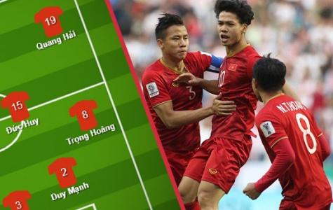 Đội hình ra sân Việt Nam vs Nhật Bản: Lần đầu của sao HAGL