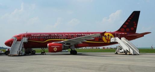 Từ phi trường Zaventem gần Brussels, tuyển Bỉ lên đường sang Bordeaux (Pháp) để chuẩn bị cho hành trình chinh phục EURO. Ảnh: Internet.