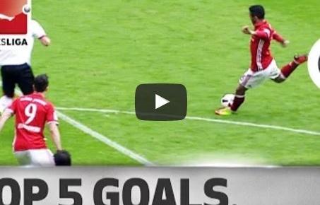 Thiago, Aubameyang, Fabian và 5 bàn thắng đẹp nhất vòng 30 Bundesliga