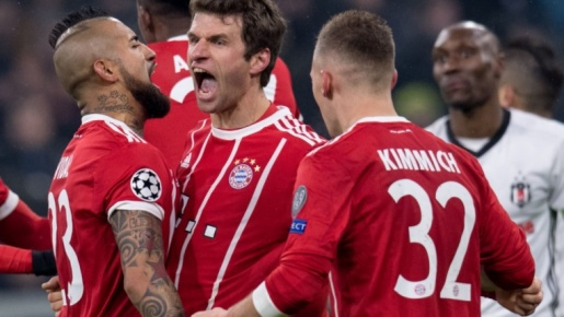Highlights: Bayern Munchen 5-0 Besiktas (Vòng 1/16 Champions League)