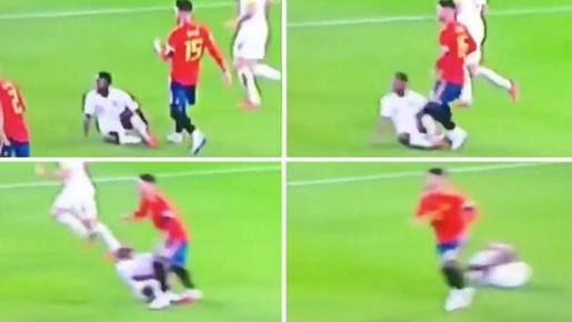 Sốc! Sau Mohamed Salah, đến lượt Sterling bị Sergio Ramos triệt hạ