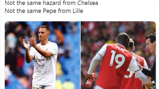 Hazard - Pepe: Ứng viên cho giải thưởng 'xấu hổ' nhất tuần