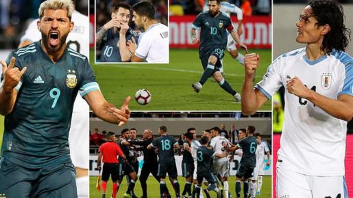 Messi nổ súng phút bù giờ, Argentina hòa kịch tính với Uruguay