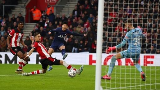 Son Heung-min nổ súng, Tottenham vẫn phải đá lại vòng 4 FA Cup