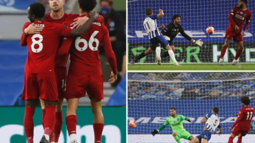 Salah xác lập thành tích khủng, Liverpool 'nuốt trọn' Brighton