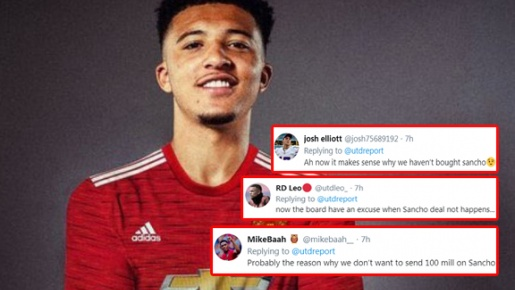 CĐV Man Utd: 'Đó là lý do chúng ta sẽ không thể mua Sancho đó sao?'