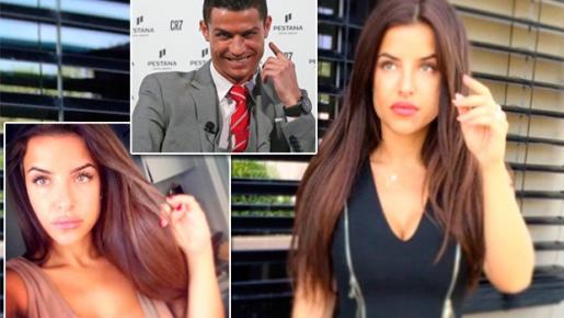 Ái nữ ngực khủng 'săn sóc' đặc biệt cho Ronaldo trong buổi ghi hình