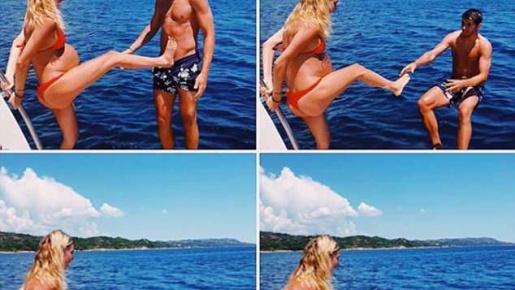 Morata bị cô vợ bầu đá bay khỏi thuyền