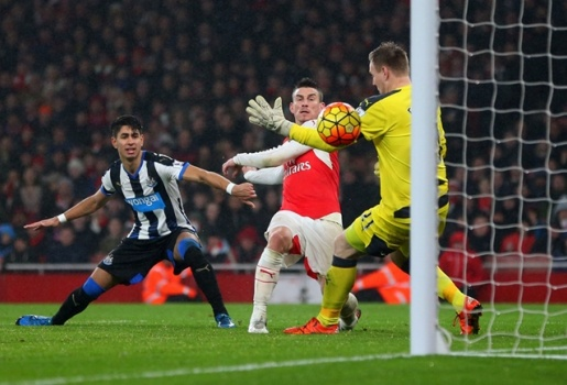 Arsenal 1-0 Newcastle (Vòng 20 Ngoại hạng Anh)