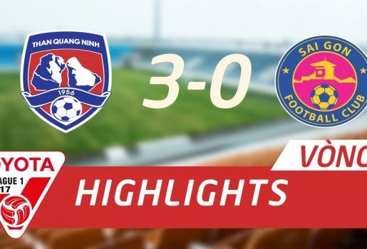 Than Quảng Ninh 3-0 Sài Gòn FC (Vòng 7 V-League 2017)