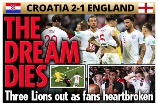 Truyền thông Anh: 'Croatia làm tan vỡ trái tim sư tử dũng cảm'