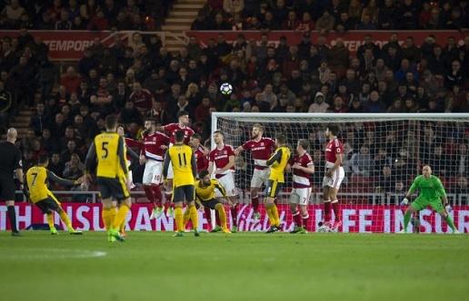 Song sát trở lại, Pháo thủ thắng nghẹt thở Middlesbrough - Bóng Đá