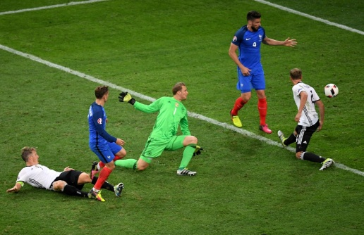 Pháp thắng Đức 2-0 trong trận bán kết EURO vừa qua. Ảnh: Internet.