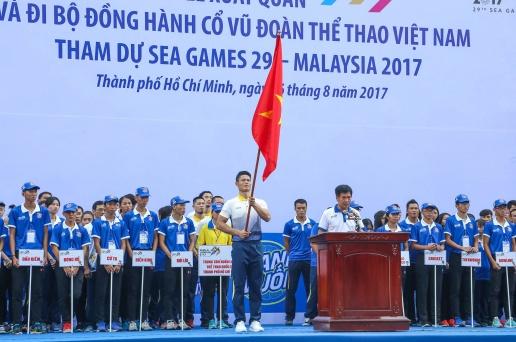 Đoàn Thể thao Việt Nam - Khu vực phía nam làm lễ xuất quân dự Sea game 29