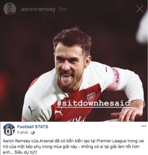 Ramsey đáp trả cực gắt sau câu