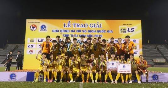 Kết thúc giải VĐQG nữ 2019: TP.HCM I vô địch, Hà Nội giành á quân | Bóng Đá