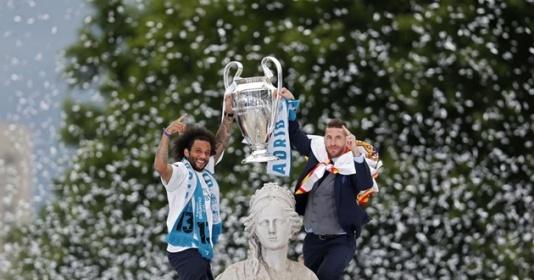 Chùm ảnh: Các cầu thủ Real Madrid ăn mừng chức vô địch Champions League