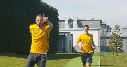 Siêu sao hội ngộ, Juventus hăng hái tập luyện