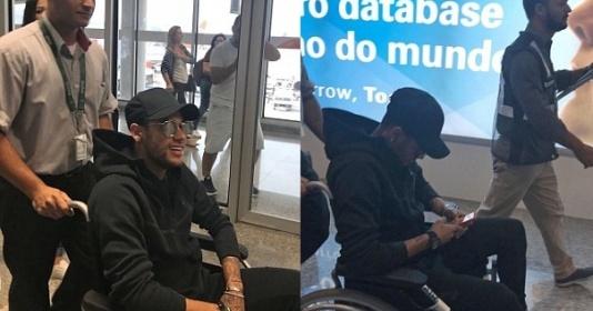 Neymar ngồi xe lăn, nguy cơ nghỉ 3 tháng và lỡ World Cup
