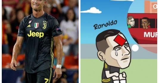 Cười ra nước mắt với loạt ảnh chế Ronaldo nhận thẻ đỏ