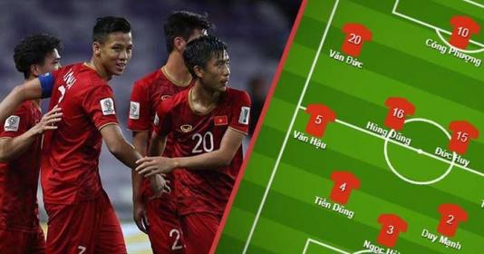 Đội hình ra sân Việt Nam vs Jordan: Lá chắn thép trở lại, tin vào Công Phượng
