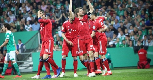 """Bremen 2 - 3 Bayern: """"Hùm xám"""" hẹn Leipzig ở chung kết cúp quốc gia"""