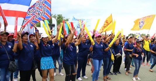 Chưa đấu Ấn Độ, CĐV Thái Lan đã nhuộm xanh Buriram | Bóng Đá