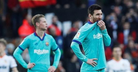 Kiểm soát bóng 74%, Barca vẫn thua tan nát trên sân của Valencia | Bóng Đá