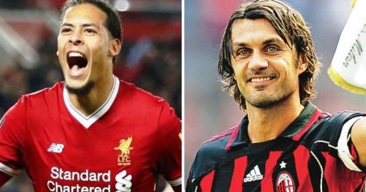 Người hâm mộ nói gì khi so sánh Maldini với Van Dijk?