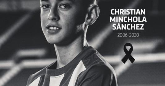 Trang chủ Atletico Madrid thông báo tiền đạo đội trẻ qua đời