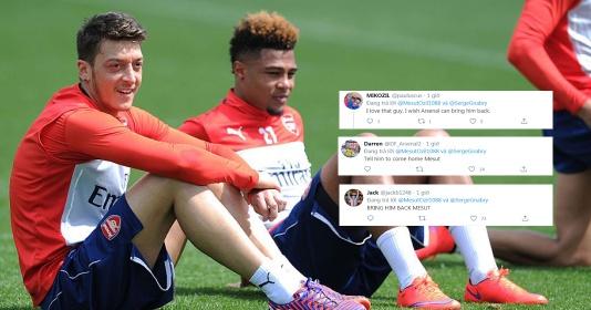 """Serge Gnabry """"nhớ"""" Arsenal, Mesut Ozil phán 1 câu khiến CĐV phát cuồng"""