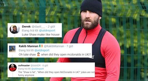 """CĐV Man Utd: """"Nhìn Shaw béo lên kìa, anh ấy vừa mở cửa hàng McDonald's à"""""""